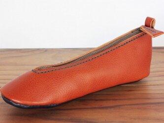 靴型ペンケース BR×NV #1-3 (イタリアンレザー)の画像