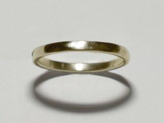 《単品/プレーン》真鍮の小粒幾何学モチーフリング/再販〈図形・記号・槌目・平打ち〉Brass、ゴールドの画像