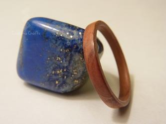 手作り木の指輪~ジュニパーハートウッド~の画像