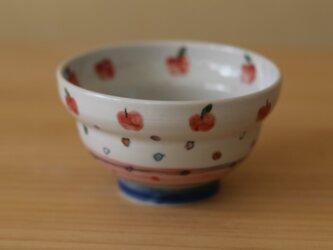 りんごと色ドットのお茶碗。の画像