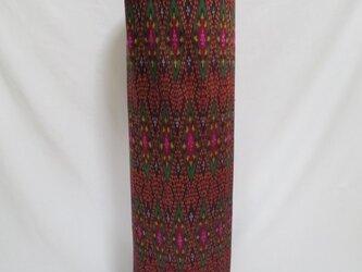 手織り絣ヨガマットバック エンジダイヤ2 プラスチックバックルの画像