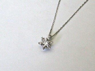 雪の花 プラチナダイヤモンドペンダントの画像