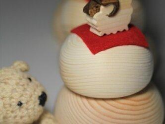 羊年お供え餅の画像