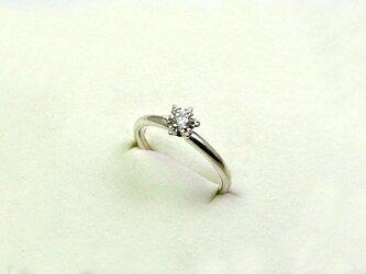 雪の花 プラチナダイヤモンドリングの画像