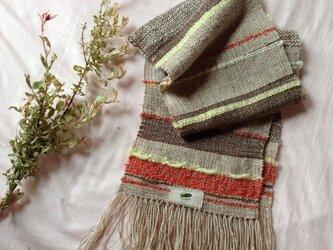 手織り カジュアルストールの画像