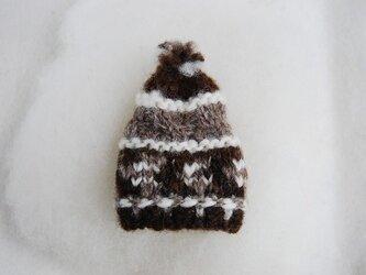 手紡ぎ糸 mini NitHat ブローチの画像
