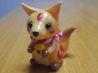 三尾の狐   樹脂粘土の画像