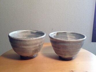 粉引き飯碗(ペア)の画像