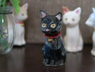 猫の置物 クロの画像