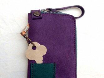 紫色ヌバックのキーケース(4連+1)の画像