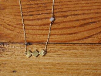 天然石ネックレス/ローズクォーツの画像