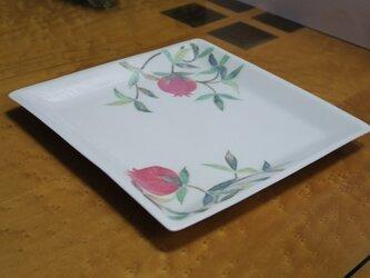 柘榴文 角皿の画像