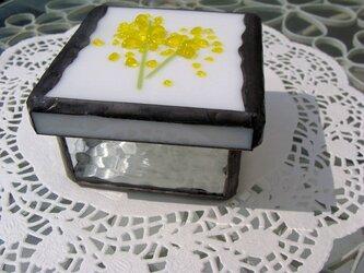 花付き(ミモザ)ガラスの小箱の画像