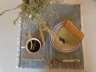 手織り リトアニアリネン糸テーブルマットの画像