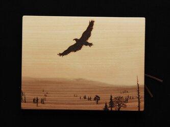 鷹 (焼き板絵)の画像
