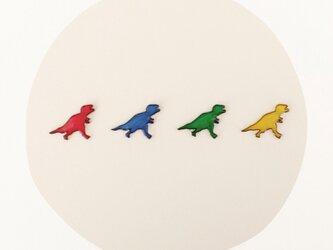 恐竜さん○ピアスの画像