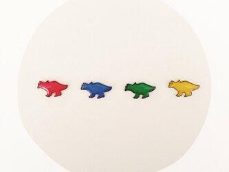 恐竜くん○ピアスの画像