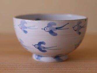 青い鳥のお茶碗。の画像