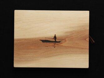 舟 (焼き板絵)の画像