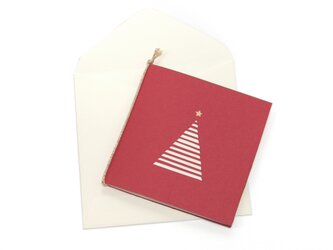 【クリスマスカード】ツリー・赤の画像