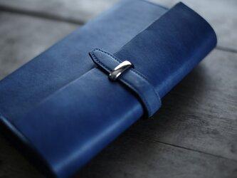 オーダーメイド  藍染革 バイブルサイズシステム手帳の画像
