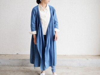 エシカルヘンプカシュクールドレス 正藍染め藍色の画像