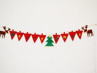 ★ロゴ入り★大人気トナカイ付クリスマスガーランドの画像