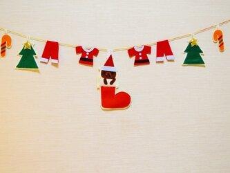 ブーツイン・寒がりくまちゃんクリスマスガーランドの画像