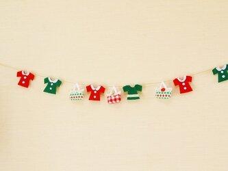クリスマスカラー★ミニミニバッグ&お洋服のガーランドの画像