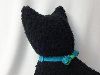 ネコ首輪 青×緑の画像