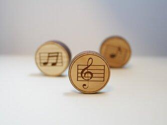 ブローチ music (ト音記号)の画像