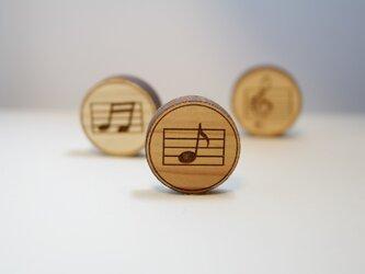 ブローチ music (八分音符)の画像