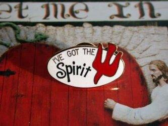 『I'VE GOT THE Spirit』ホワイト/レッド ピンの画像
