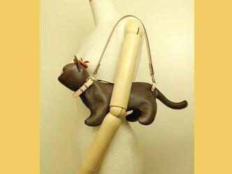 猫ショルダー バッグ Kitten Shoulder ブラウンの画像