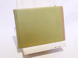 革装3色モザイクノート《メモサイズ/グリーン》の画像
