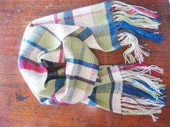 (♪値下げしました♪ )手織りマフラー(冬のお花)の画像