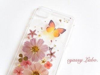 蝶々と秋冬色小花ミックス2☆iPhone6plusの画像