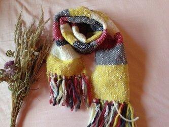 手織り クリスマスカラー ローピンクウール100%の画像