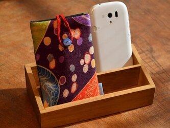 スマートフォンケース 水玉かのこ遊び(ネイビー)の画像