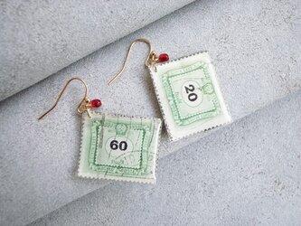 Vintage切手のイヤリング/ピアス(ハンガリーの画像