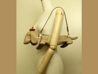 犬ショルダー バッグ Puppy Shoulder ベージュの画像
