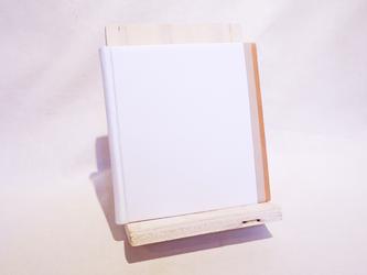 革装3色モザイクノート《スクエア/ホワイト》の画像