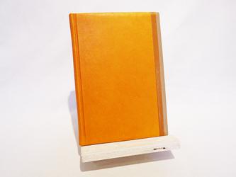 革装3色モザイクノート《B6サイズ/オレンジ》の画像