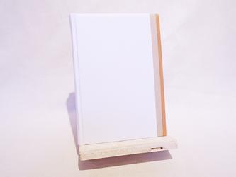 革装3色モザイクノート《B6サイズ/ホワイト》の画像