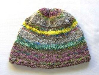 SALE 手紡ぎ糸のニット帽 360の画像