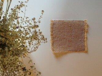 手織り リトアニアリネン糸で織った ドイリー バイオレットの画像