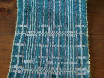 手織り 浮き織りマフラーの画像