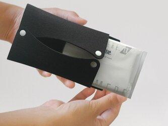 ポケットティッシュケース〈黒色〉の画像