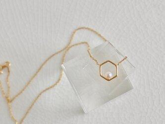 アコヤパールの六角形ネックレスの画像
