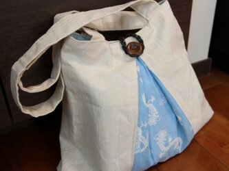 古布手ぬぐい バッグの画像